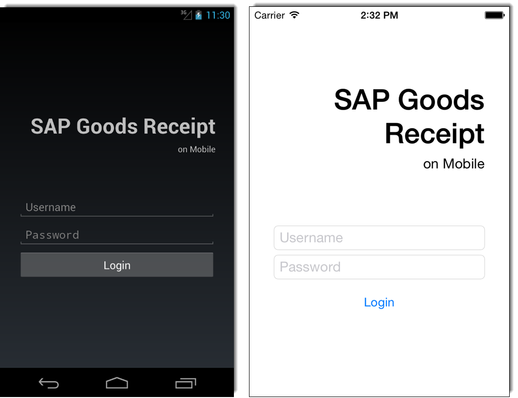 Challenges of Mobilizing SAP MM with Xamarin - Login Page